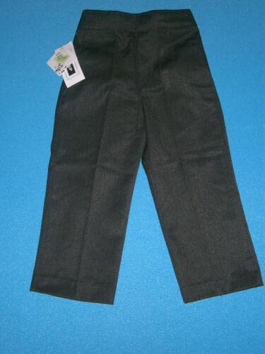 8Y BLACK /& GREY MEZZA elastico in vita RAGAZZI PULL UP SCUOLA Pantaloni 2//3 A 7