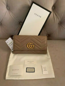 Gucci Pearl Logo Snake Pattern GG Marmont Continental
