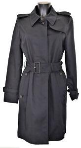 Giubbotto-Aquascutum-London-Franca-Sb-Giacca-Trench-Nero-Donna-Woman-Jacket
