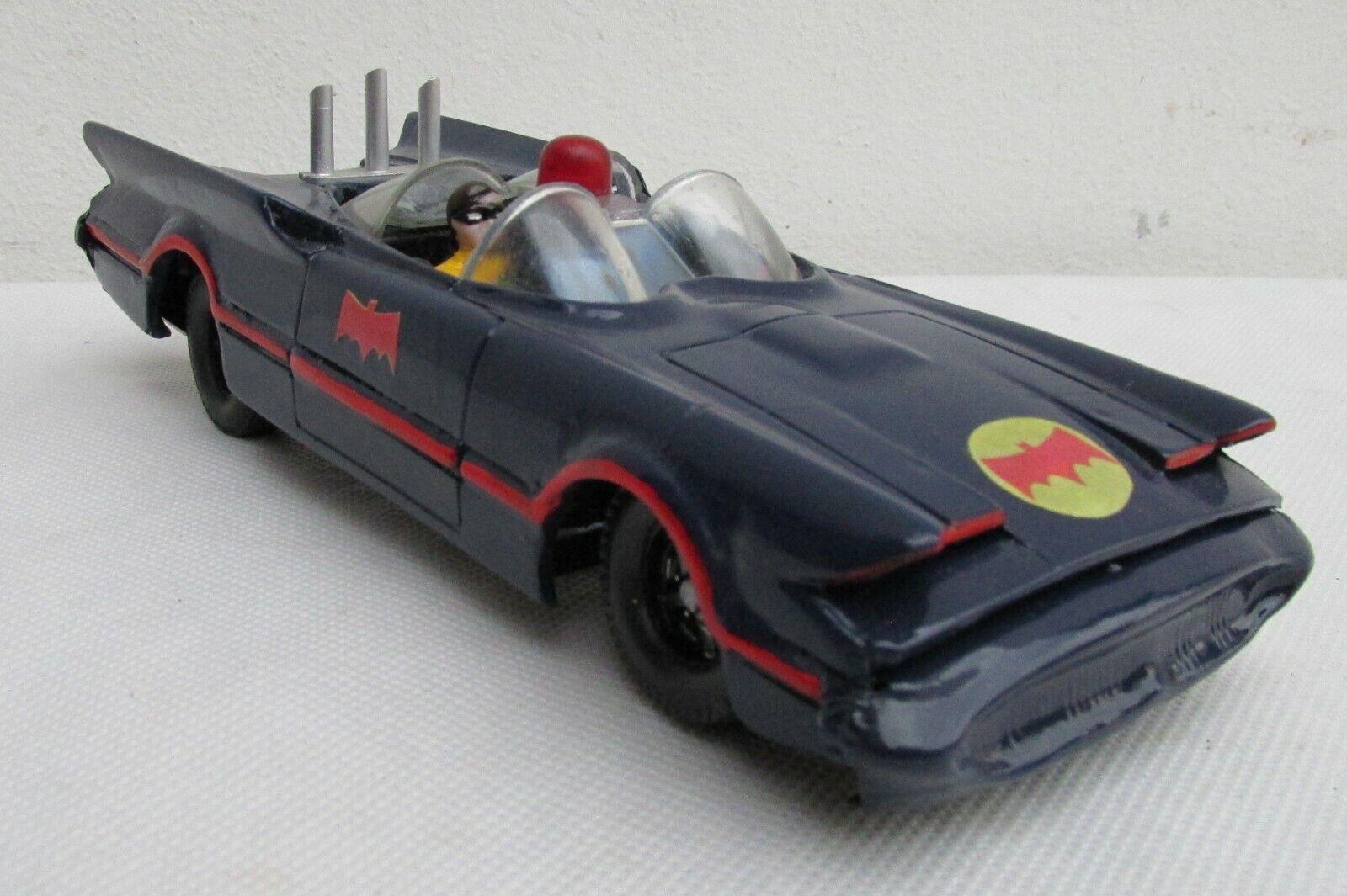 Muy Bonito feo Azul Batimóvil réplica de auto, Batman y Robin, totalmente nuevo, Muy Buena