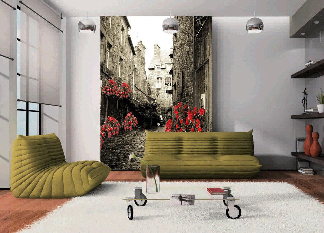 3D Old Street Flower 7 Wall Paper Murals Wall Print Wall Wallpaper Mural AU Kyra