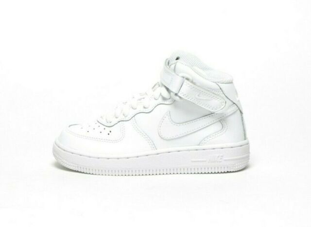 bbaf9a06 Nike Force 1 Mid White SNEAKERS Preschool Children 10.5