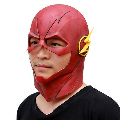 Animax Deluxe The Flash Allen Latex Mask Halloween Full Face Masquerade Prop