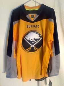 official photos 13aa3 89908 Details about Reebok Authentic NHL Jersey Buffalo Sabres Team Yellow Alt  3rd sz 56