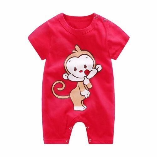 Short  Cotton Baby Romper Clothes Boys Girls Bodysuit Jumpsuit Boy Girl Summer