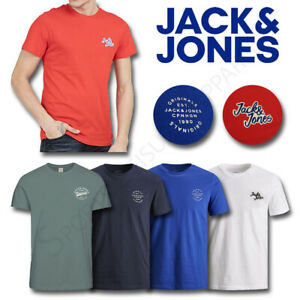 Mens-T-Shirts-JACK-AND-JONES-Top-Short-Sleeve-Tee-Crew-M-L-XL-XXL-Medium-Large
