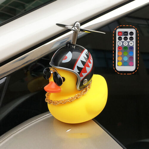 Funny Yellow Duck Shining Helmet Bicycle Bell Ring Bike Ride Horn Kids Adult Toy