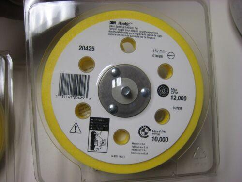 3M  6 Inch  Clean Sanding Soft Disc Pad 20425 Hook  side