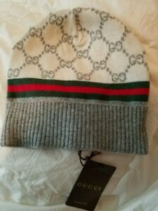 84b94cfa Image is loading Gucci-Beanie-Hat-WOOL-amp-CASHMERE-BRAND-NEW-