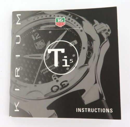 TAG HEUER KIRIUM Ti5 INSTRUCTIONS BOOKLET.