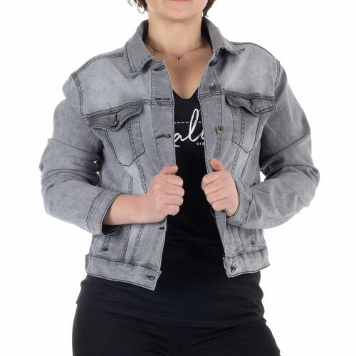 Malucas Damen Jeansjacke Übergangsjacke Leichte Jacke Denim Stretch Sommer