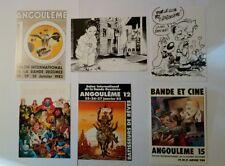 6 carte postale  Angoulême Mézières Gillon Tatsumi Lauzier Roba Bilal