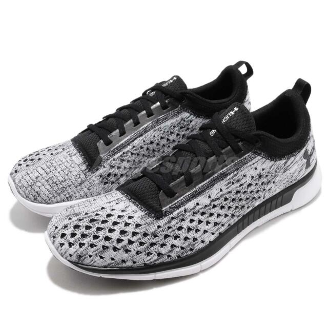 0d14f307 Under Armour Lightning 2 Black White Men Running Shoes Sneakers 3000013-001  for sale online
