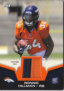 RONNIE-HILLMAN-RC-2012-TOPPS-RP-RH-2CLR-JERSEY-PATCH-FB6460
