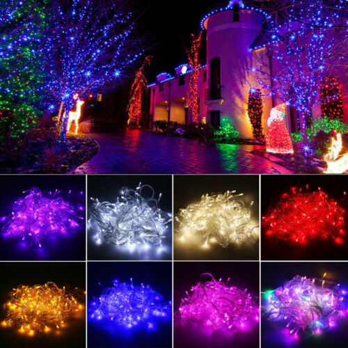 20M 200 LED Christmas String Lights Wedding Xmas Party Decor Outdoor Indoor Lamp