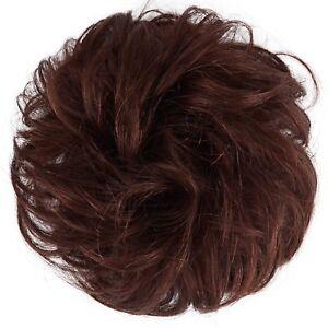 Details about FESHFEN Plum Red/Burgundy Messy Hair Scrunchies Bun Curly  Wavy Pieces For Women