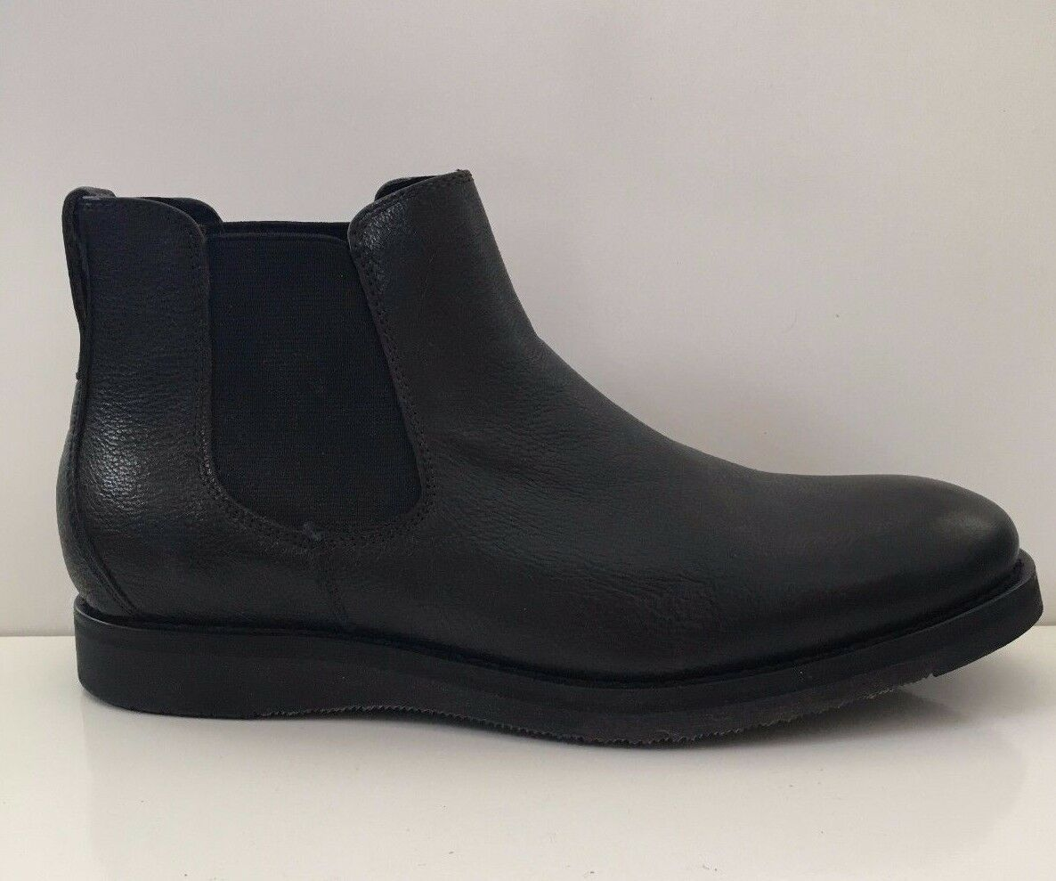 NEW Reaction Kenneth Cole Men's Thank Me Later Boots Leather Black Shoes Sz 8.5