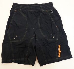 Mongoose-Loose-Fit-Baggy-BMX-Bicycle-Shorts-SMALL-Black-Padded-Mountain-Bike