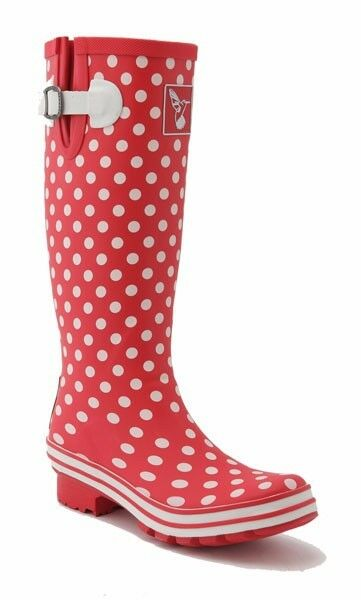 Gummistiefel Evercreatures 38 Polka Dots Tall Rot Weiß Gepunkted EU 38 Evercreatures UK 5 GUMMI 3850a7