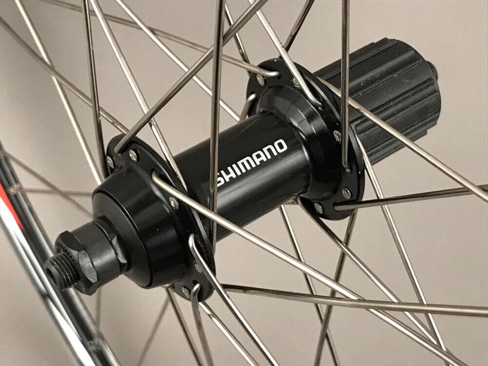 Image 3 - Mach1 Rims Black Road Bike Wheelset 28h Shimano Tiagra Hubs 8 9 10 11 Speed NEW
