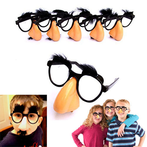 Groucho Marx Glasses 12pcs Classic Novelty Gag Nose Eyebrows Mustache Disguise