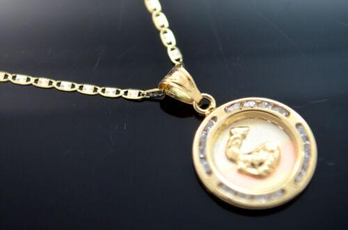 Oro Garantizado  Medalla de Bautizo 2605 Baptism Charm 14k Real Gold