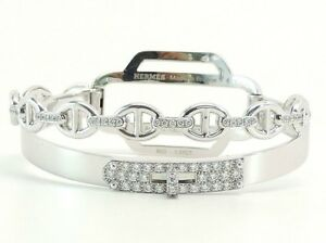 hermes kelly double tour diamond bracelet