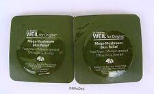 Origins Dr Weil Mega Mushroom Skin Relief Mask  - 2 X 5ml ( 10ml in Total)