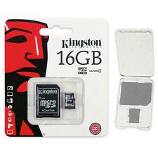 Kingston 16GB Micro SD SDHC Class 4 microSD Flash Memory Card SDC4/16GB + CASE