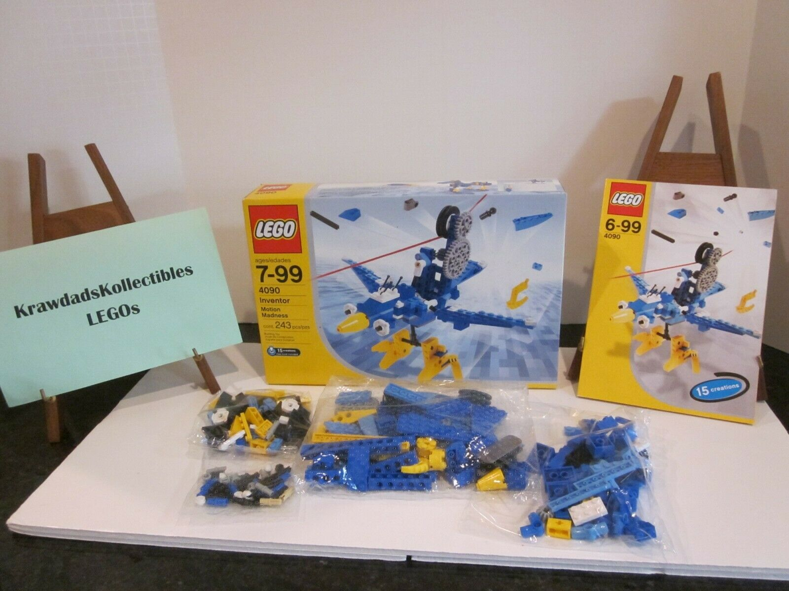 LEGO SET 4090 INVENTOR, MOTION MADNESS, UNUSED, SEALED IN OPENED BOX WITH MANUAL