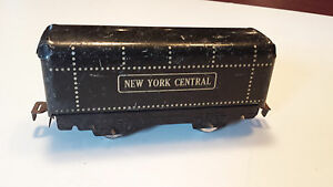 Marx-O-Scale-Vintage-Black-Tin-Litho-Metal-NYC-New-York-Central-Round-Top-Tender