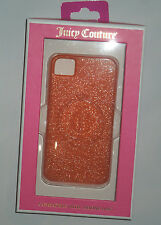 JUICY COUTURE Gelli Glitter Orange cell Phone Case  Iphone  I phone  4 / 4S
