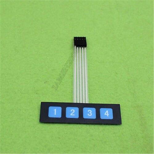 20 Stücke 1X4 Schlüsselmatrix Membran Schalter Bedienfeld Tastatur Schlank zn