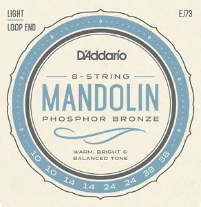 3 Sets D'addario Ej73 Mandoline Cordes Phosphor Bronze Light 10-38 J73-afficher Le Titre D'origine Chaud Et Coupe-Vent