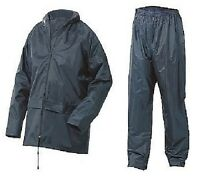 Mens Waterproof Rainwear Coat Kagool Jacket Trousers Set Suit Taped Seams Work