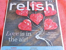 RELISH MAGAZINE FEBRUARY 2013 RED VELVET BROWNIE HEARTS VALENTINE'S DAY