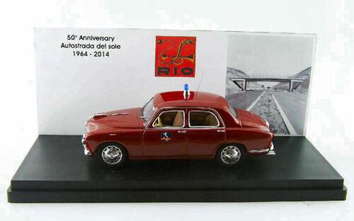 Alfa Romeo 1900 Polizia Autostradale 50 Ann Autostrada Del Sole 1964-2014 1:43