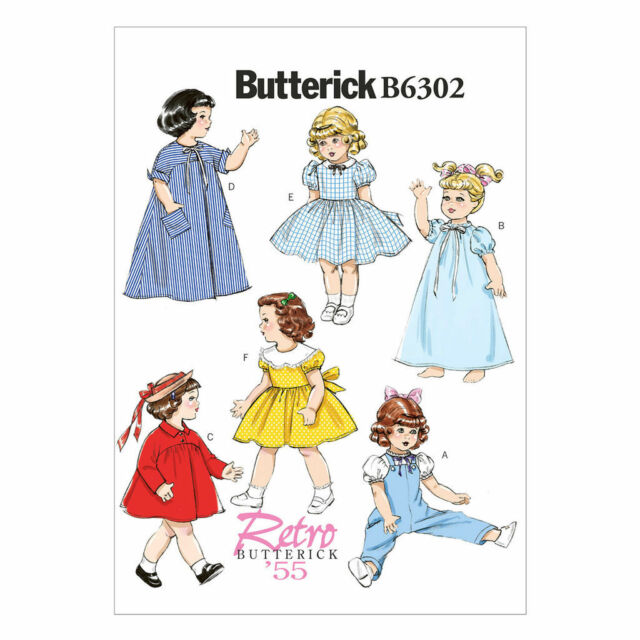 Butterick Sewing Pattern Retro 55 Clothes 18 Inch Doll Coat Dress Robe B6302 For Sale Online Ebay