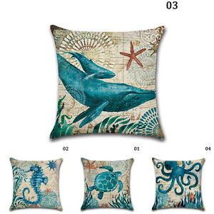 Image Is Loading Decorative Throw Pillow Cover Beach Ocean Seaside Coastal