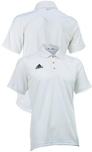 adidas Short Sleeve Cricket Shirt V13741 Chalk Size S - XXL Free Postage