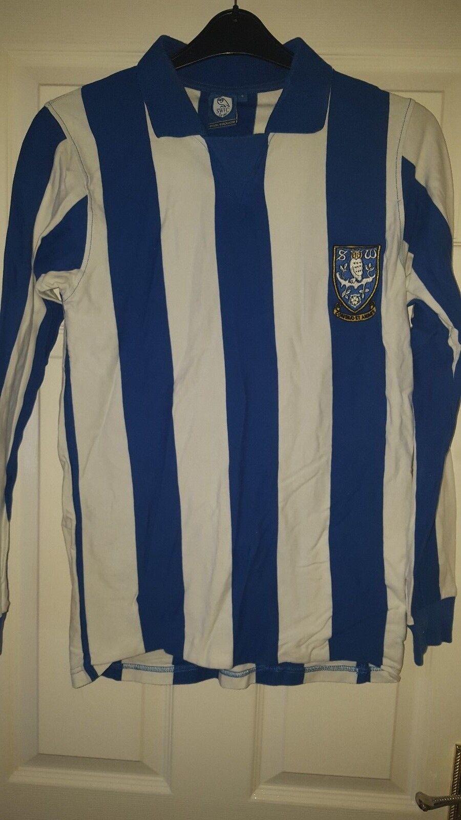 Camicia calcio da uomo-Sheffield Wednesday FC-swfc Retrò Ufficiale Replica Replica Replica 1970s 8d8263