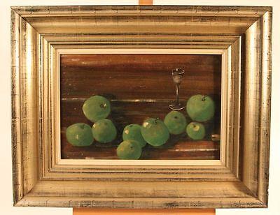 Frank Heise (1939-2000) - Stillleben mit Äpfeln - Granny Smith's Ölstudie (H94)