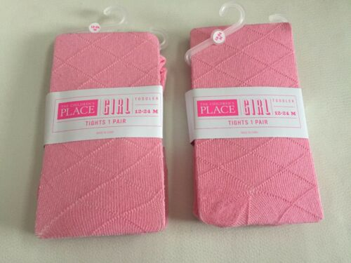 Set of 2 Toddler Girls The Children/'s Place Pink Tights Sz 12-24M 2T-3T 3T-4T