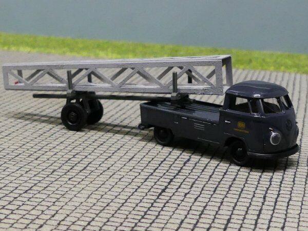 """NEU! Brekina 1:87 32836 Volkswagen VW T1 Doka mit Nachläufer /""""Post Österreich/"""""""