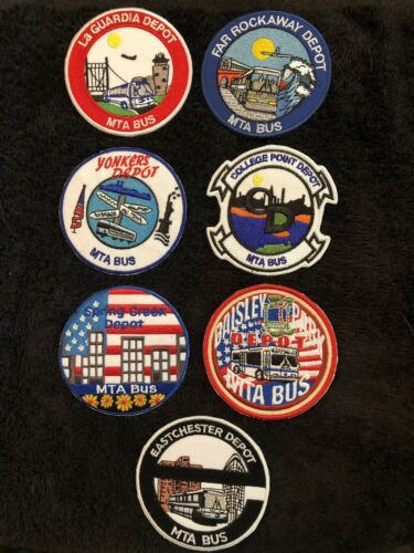 MTA Depot Patches Lot Of 7 .