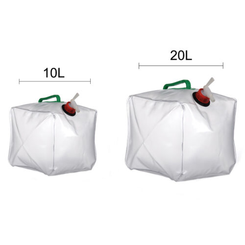 Foldable Collapsible Outdoor Camping Water Storage Carrier Container Bag 10//20L