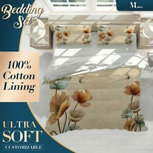 Carving-Butterfly-Floral-Flowers-Brown-Quilt-Doona-Cover-Sets-Breathable-Cotton