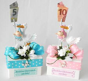 Geschenkschachtel Geschenkbox Geldgeschenk Geburt Madchen Rosa