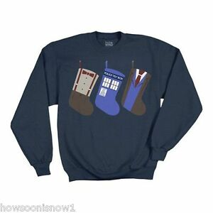 Dr Who Christmas Sweater.Details About Doctor Who Christmas Stocking Fleece Sweatshirt Ugly Sweater Style New Xxl