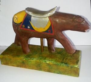 Primitive Hand Carved and Painted Unfinished Child's Toy, Eastern Shore VA. 1997